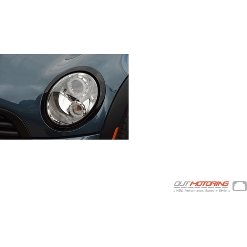 Headlight Trim: Gloss Black: Left: R55/6/7/8/9