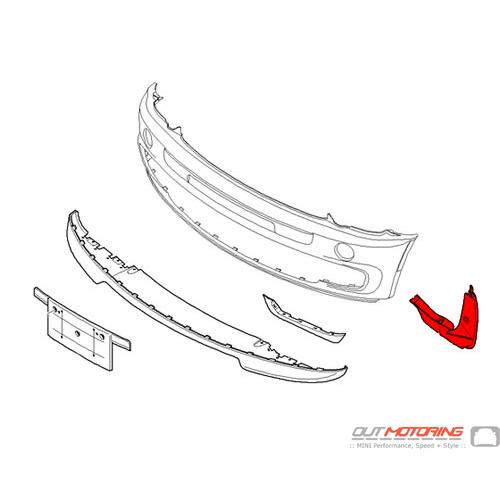 GP Inner Fender Liner: Left