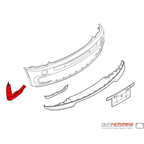GP Inner Fender Liner: Right