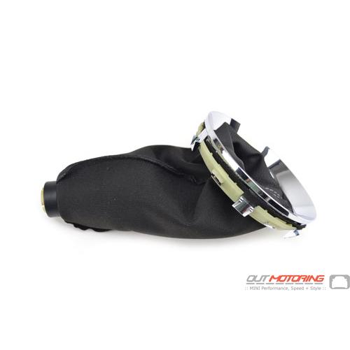 Shift Boot: Manual: Chrome Base W/ Leather Knob: Highgate