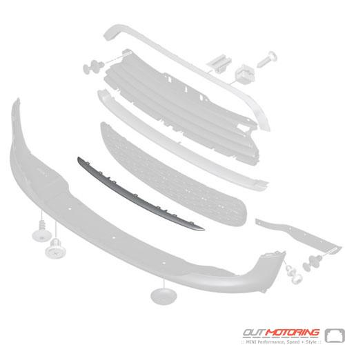 Grill Trim: Lower Slat: Chrome