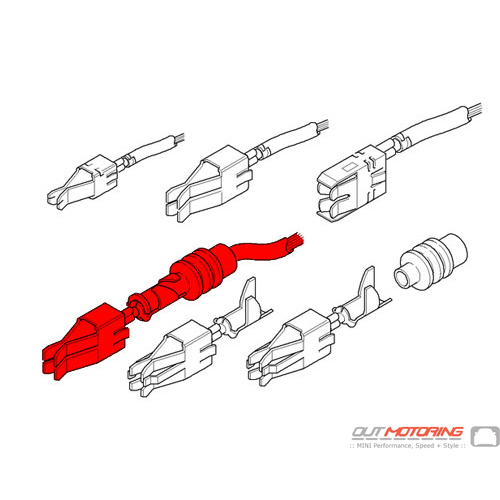 61130021229 Mini Cooper Replacement Double Leaf Spring Contact