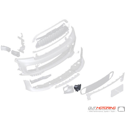 """Cover: Brake Air Channel: Right: JCW """"Aero"""" Kit"""
