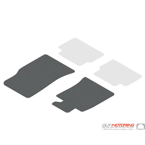 Floor Mats: Velours: Front: Gen2: Satellite Grey
