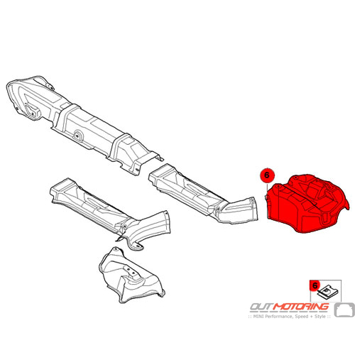 Heat Insulation: Rear Silencer: Right