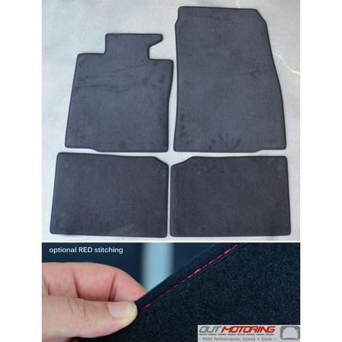 Floor Mats: Carpet: R60/61 w/ Red Stitching