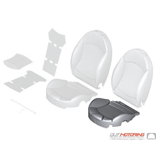 """Sports Seat Cover: Left: """"Lounge"""" Satellite Grey W/ Seat Heating"""