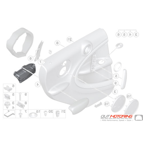 Armrest: Adapter: Rear Left