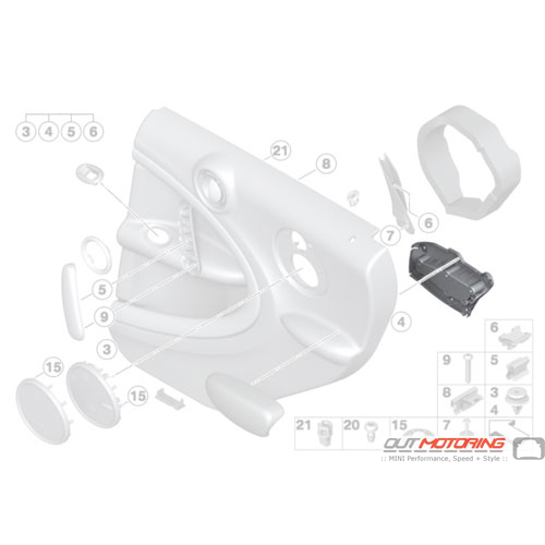 Armrest: Adapter: Rear Right
