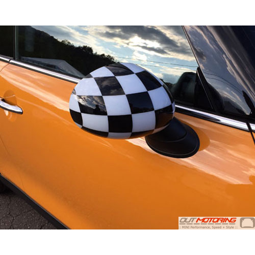 Side Mirror Cap Gen 3 Checkered Flag Right