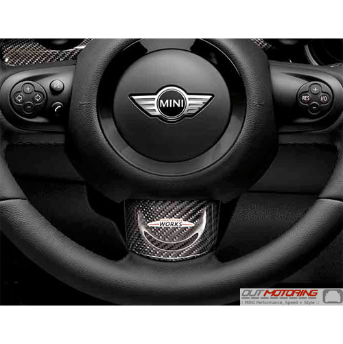 Steering Wheel Trim: Carbon Fiber JCW: Lower