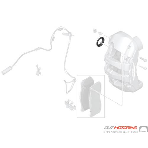 Brake Caliper: JCW: GP