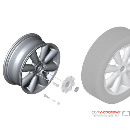 Turbo Fan R126: Light Alloy Rim: White