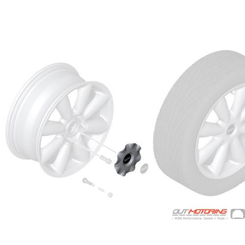 Wheel Center Cap: Turbo Fan R126: White