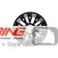 Disk Wheel Cross Spoke R134: Light Alloy Rim: Black w/ Machined Face