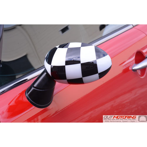 Side Mirror Covers: Gen1 Stick-on: Checkered Flag