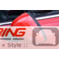 Side Mirror Covers: Gen1 Stick-on: Red