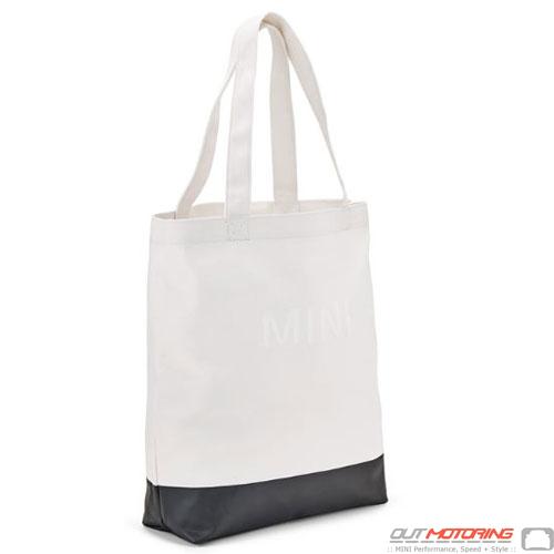 Shopping Tote: White/Black