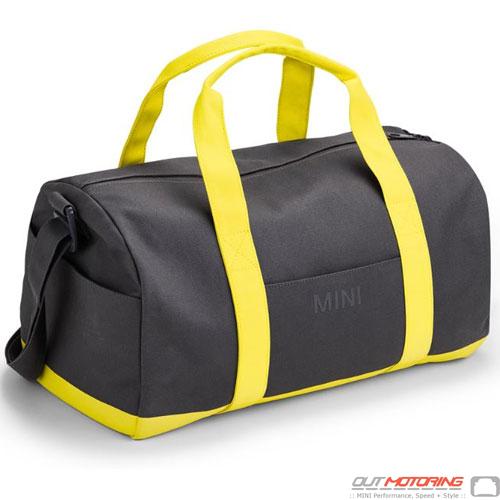 Duffle Bag: Gray/Lemon