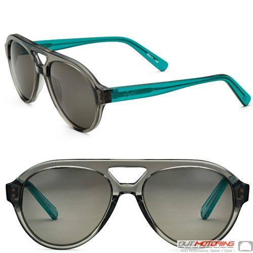Sunglasses: Aviator: Gray/Aqua