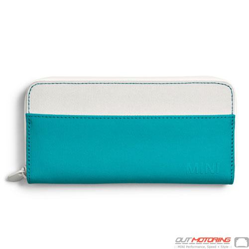 Wallet: White/Aqua