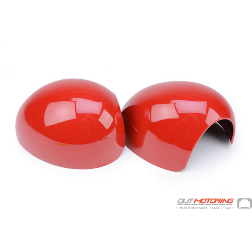 Side Mirror Covers: Gen2 Stick-on: NON PowerFold: Red