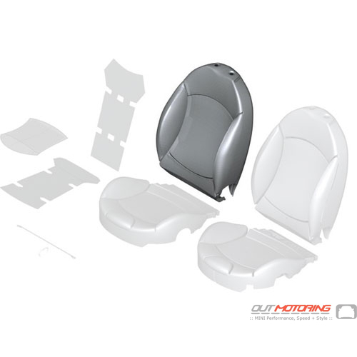 Sports Backrest Cover: Sports: Left: Leather: Black/Beige