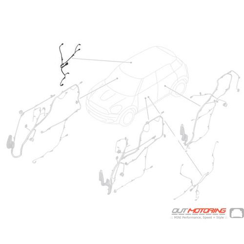 61129360357 Mini Cooper Replacement Door Wiring  Rear Adapter