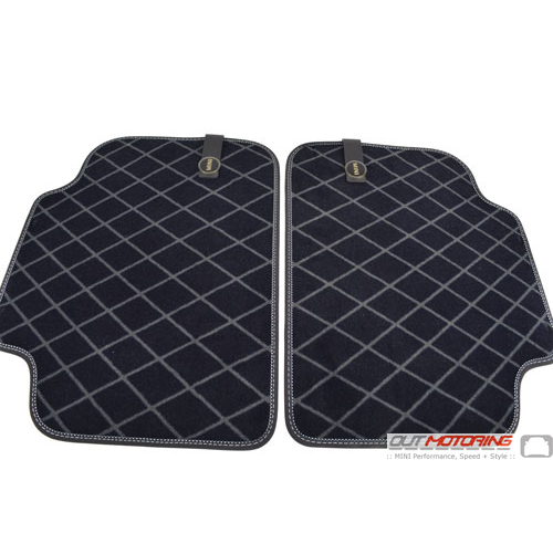 Floor Mats: Carpet: Rear 'Diamond' F60