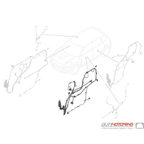 61129338910 Mini Cooper Replacement Door Wiring Leftdriver Side