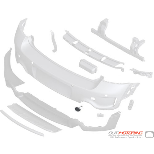 Towing Eye Cover: Primed: Right