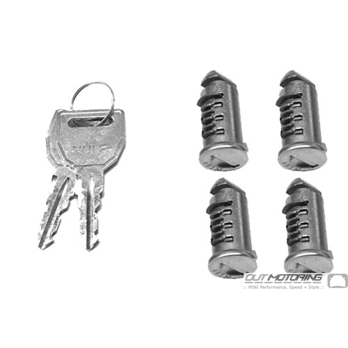 Key + Set of 4 Cylinders / Roof Rack + Attachments