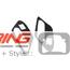 Side Marker Housing Inserts: R60/1: Black Jack