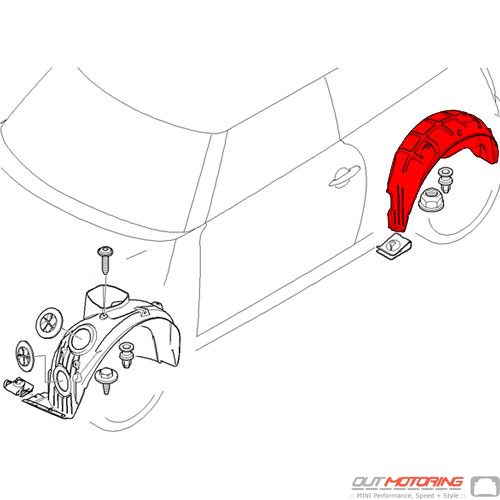 Cover: Wheel Housing: Rear: Left