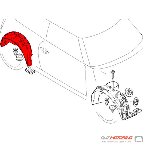 Cover: Wheel Housing: Rear: Right