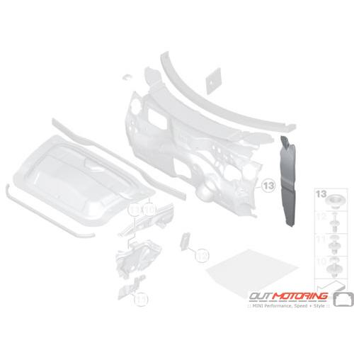 Noise Insulation: Side Panel: Left
