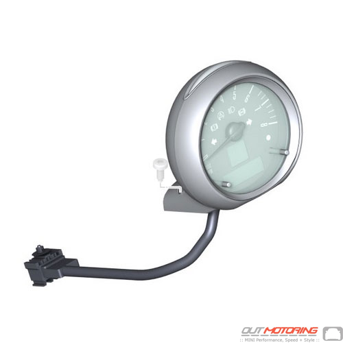Steering Column Tachometer: Chrome