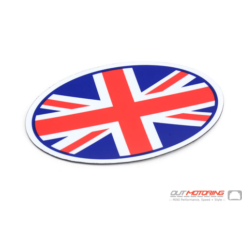 Oval Magnetic Badge: Union Jack
