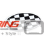 Oval Magnetic Badge: Checkered Flag