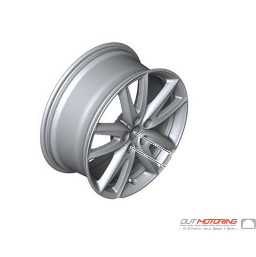 "*BMW Mini Cooper R50 R56 Silver Wheel Alloy Rim 15/"" ET:45 5,5J Rotator Spoke 101"