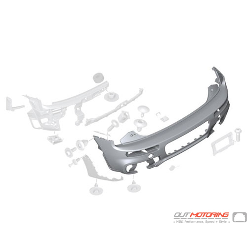 Bumper Trim Panel: Primered: Rear: JCW