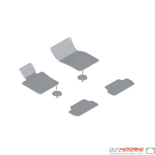 Floor Mats: Set: Grey