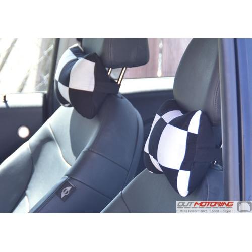 Pillow Set: Headrest: Checkered