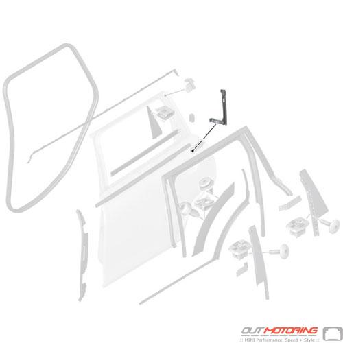 Window Guide Rail: Rear: Left