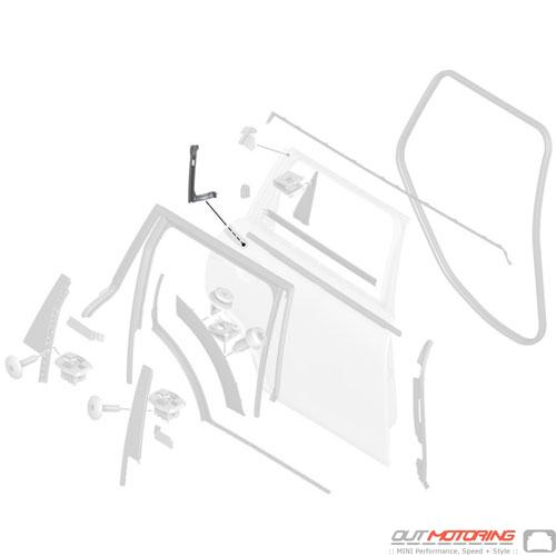 Window Guide Rail: Rear: Right