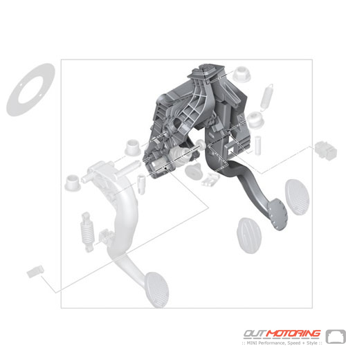 Pedal Assembly W/ Brake Pedal