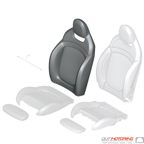 Backrest Cover: Dinamica: JCW: Right