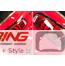 Taillight + Headlight Trim Cover Set: Gloss Black: F54