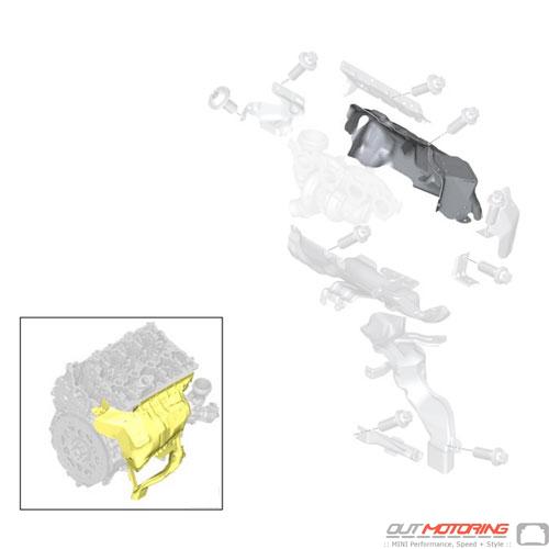 Heat Shield: Upper Turbocharger