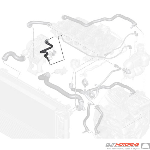 Line: Cylinder Head-Expansion Tank